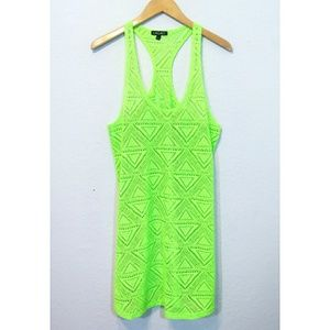 1785a6659a58b Lagaci**Neon Green Bathing Suit Coverup Size L